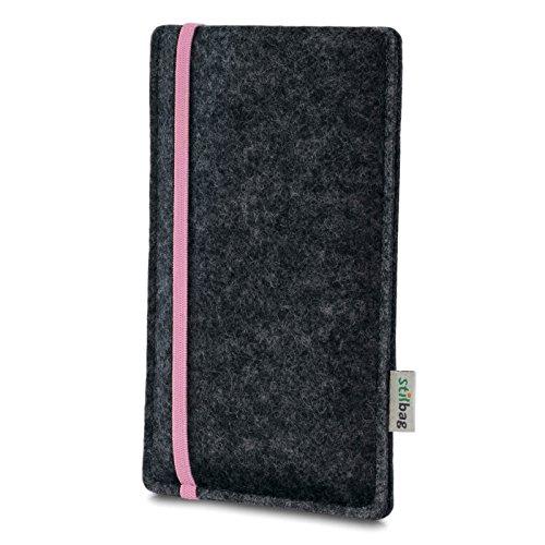 Stilbag Etui Feutre 'LEON' pour Apple iPhone 3Gs - Couleur: rose-anthracite