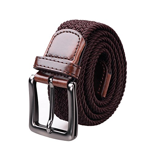 Lt Tribe Mens and Womens Casual Stretch Elastic Belt Woven Canvas Web (Ladies Canvas Belts)