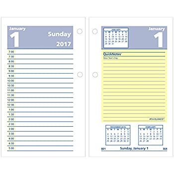 Amazon.com : AT-A-GLANCE Daily Desk Calendar 2017 Refill, Quick ...