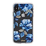 iPhone Xs Max Case, Sonix Indigo (Blue Flowers) [Military Drop Test Certified] Women's Protective Clear Case Series Apple iPhone Xs Max