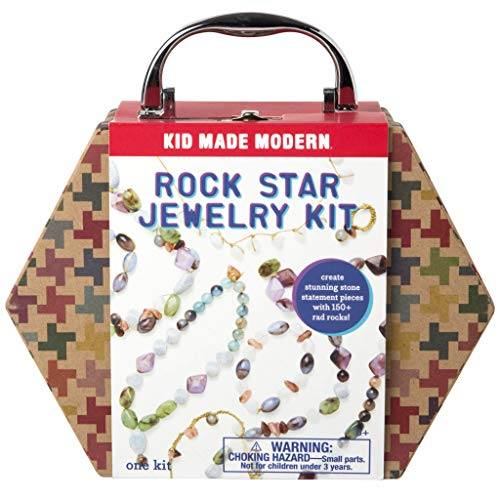 Kid Made Modern Rock Star Kids Jewelry Making Kit - Arts & Crafts Toys (Kit Jewellery)