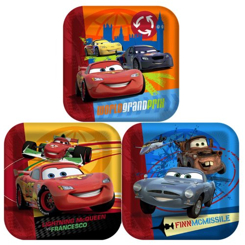 Disney's Cars 2 - Square Dinner Plates Party