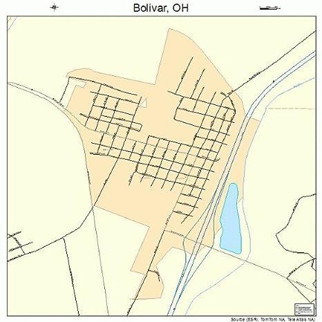 Amazon.com: Large Street & Road Map of Bolivar, Ohio OH   Printed