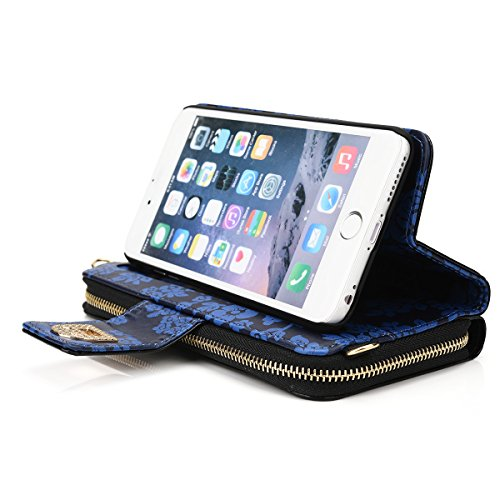 Kroo Wallet Case for Apple iPhone 6 Plus/6s Plus - Frustration-Free Packaging - Black