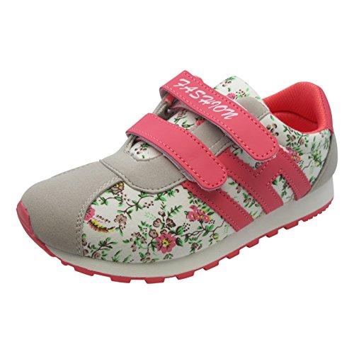 Tante Tina Sportschuhe für Kinder - Sneaker mit Blümchen - in Verschiedenen Farben und Größen Rot