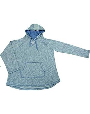 Ladies Medium Long Sleeve Sweatshirt w/Hoodie Lilac