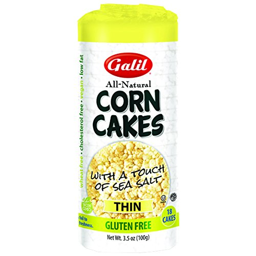 Galil All Natural Thin with a Touch of Sea Salt Gluten Free Corn Cakes KFP - Pack of 3 by Galill