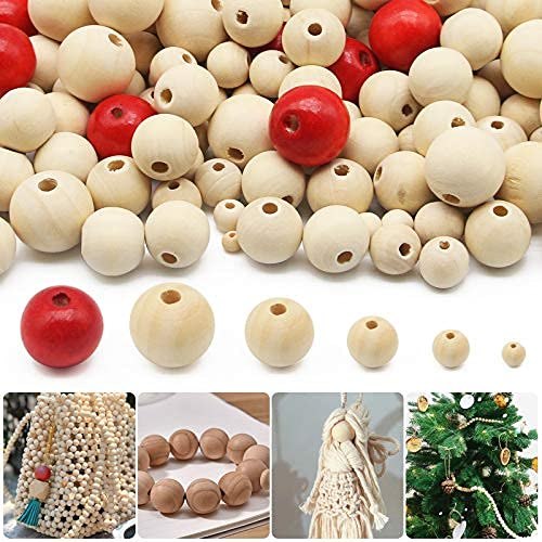 1000PCS Natural Wooden Beads Wooden Beads Round Unfinished Wood Loose Bead Spacer