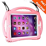TopEsct iPad 2 Case for Kids, Shockproof Silicone Handle Stand Case Cover&(Tempered Glass Screen Protector) for Apple iPad 2nd Generation,iPad 3rd Generation,iPad 4nd Generation (Pink)