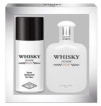 Homme • Toilette De 100mlDéodorant Vaporisateur Parfum Cadeau Whisky Spray Coffret Eau Sport Evaflorparis 15oml TlKcu1F3J