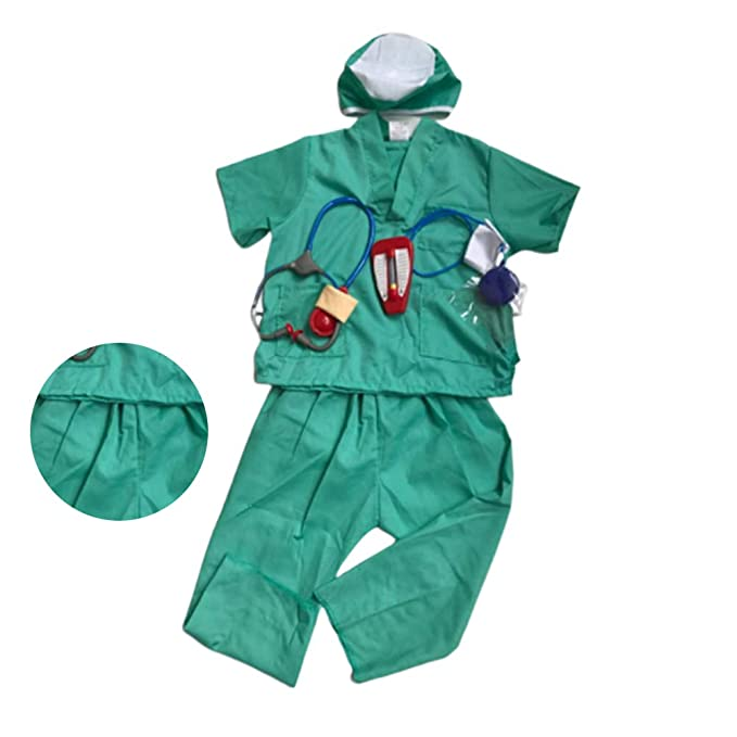 Amosfun Kids Doctor Juego de rol Traje de Halloween Cosplay ...