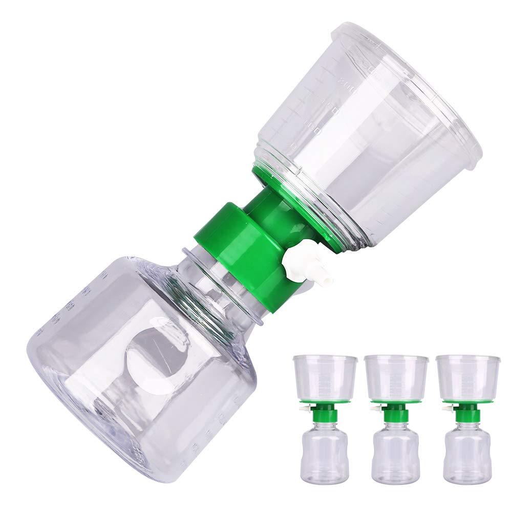 Alberts Filter Bottle Top Filter with 0.22μm PES Membrane, Sterile Vacuum Bottle Filter, Disposable Bottle Top Vacuum Filter for Lab, 500ml Funnel + 500ml Receiver