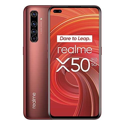 chollos oferta descuentos barato realme X50 Pro Smartphone 5G de 6 44 8 GB RAM 256 GB ROM procesador OctaCore Qualcomm Snapdragon 865 cuádruple cámara AI 64MP MicroSD Rust Red
