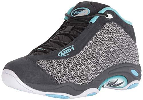 AND 1 Men's Tai Chi LX Sneaker, Magnet Knit/Petite Four/White, 12 Medium US