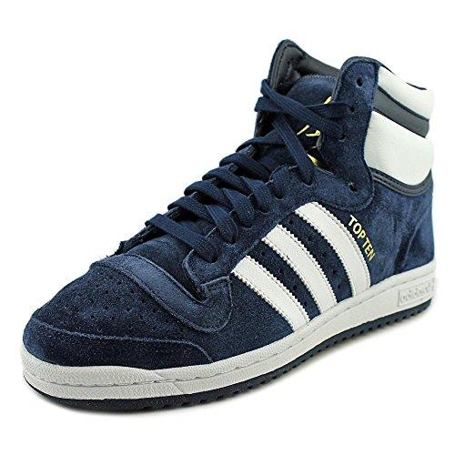 3591e28838040 adidas Originals Men's Top Ten Hi Fashion Sneaker, Collegiate  Navy/White/Collegiate Navy, 8 M US