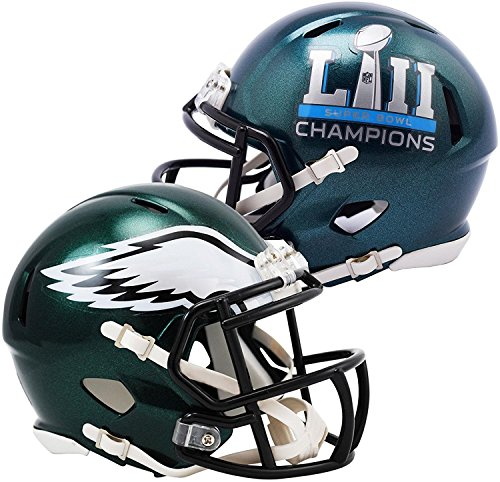 Champs Mini Helmet Riddell (Riddell Philadelphia Eagles Helmet Replica Mini Speed Style Super Bowl 52 Champs)