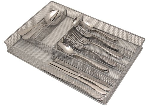 Mesh Large Cutlery Tray with Foam Feet - Silverware Storage by Storage Technologies ()