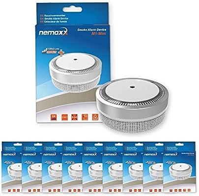 Nemaxx M1 Mini - Detector de humo – sensibles, color plateado