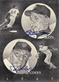 Willie Mays - Willie McCovey Autographed Signed San Francisco Giants 8x11 Lithograph Print - COA - Mint Condition