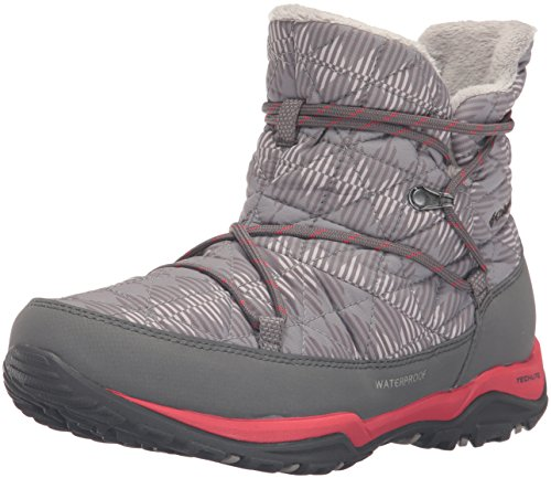 Columbia Women's Loveland Shorty Omni-Heat Print Snow Boot, Light Grey/Burnt Henna, 8 B US
