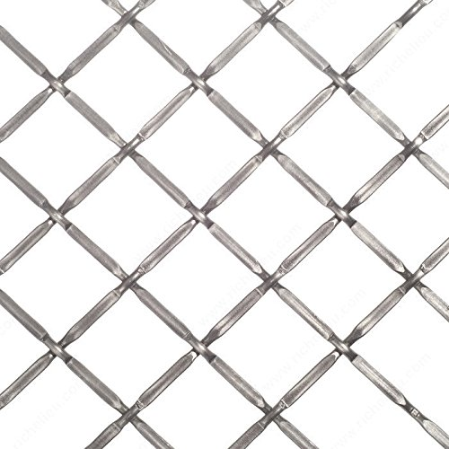 Pewter Wire Mesh - Decorative Wire Mesh, Finish Pewter, Width - Overall Dimensions 36 in, Projection - Overall Dimensions 48 in