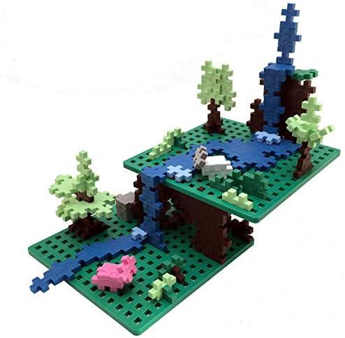 PLUS PLUS - Green Baseplate Duo - Accesorio de base para construir y exhibir creaciones, 4.5 X 4.5 pulgadas, Construcción Edificio STEM | Juguete STEAM para niños