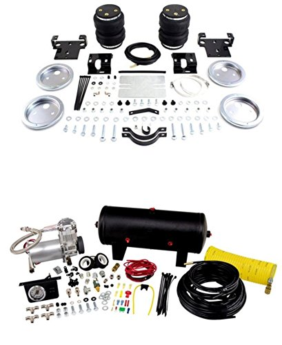 Air Lift 88275/25690 Set of Rear Load Lifter 5000 Ultimate Series w/Quick Shot System Kit for Silverado/Sierra