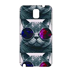 Cool-benz Cool colorful glasses cats 3D Phone Case for Samsung Galaxy Note3