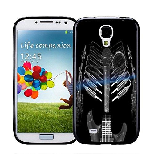 (Guitar Mic Skeleton - Samsung Galaxy S4 Black Case)