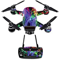Skin for DJI Spark Mini Drone Combo - Neon Splatter| MightySkins Protective, Durable, and Unique Vinyl Decal wrap cover | Easy To Apply, Remove, and Change Styles | Made in the USA