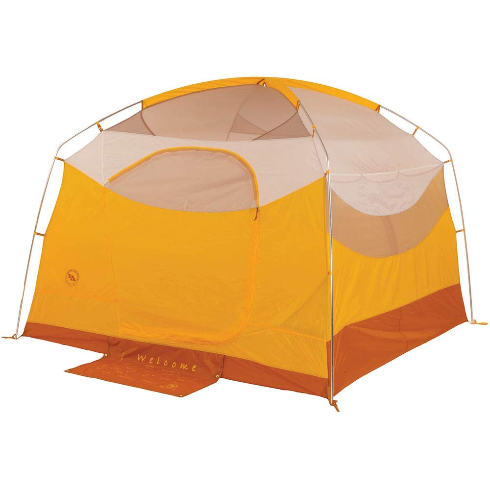 Big Agnes Big House Deluxe Camping Tent, Gold/White Color, 4 Person