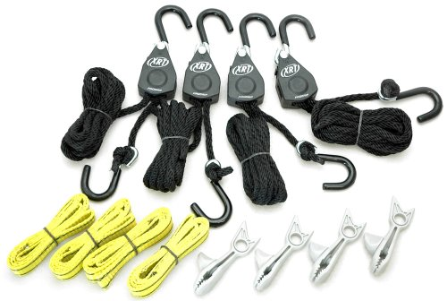 - PROGRIP 921200 Cargo Tie Down and Transport Bundle: (4) XRT Rope Lock Tie Down, (4) Shark Clip with Screw for Tarp, (4) Tie Down Extension Loops