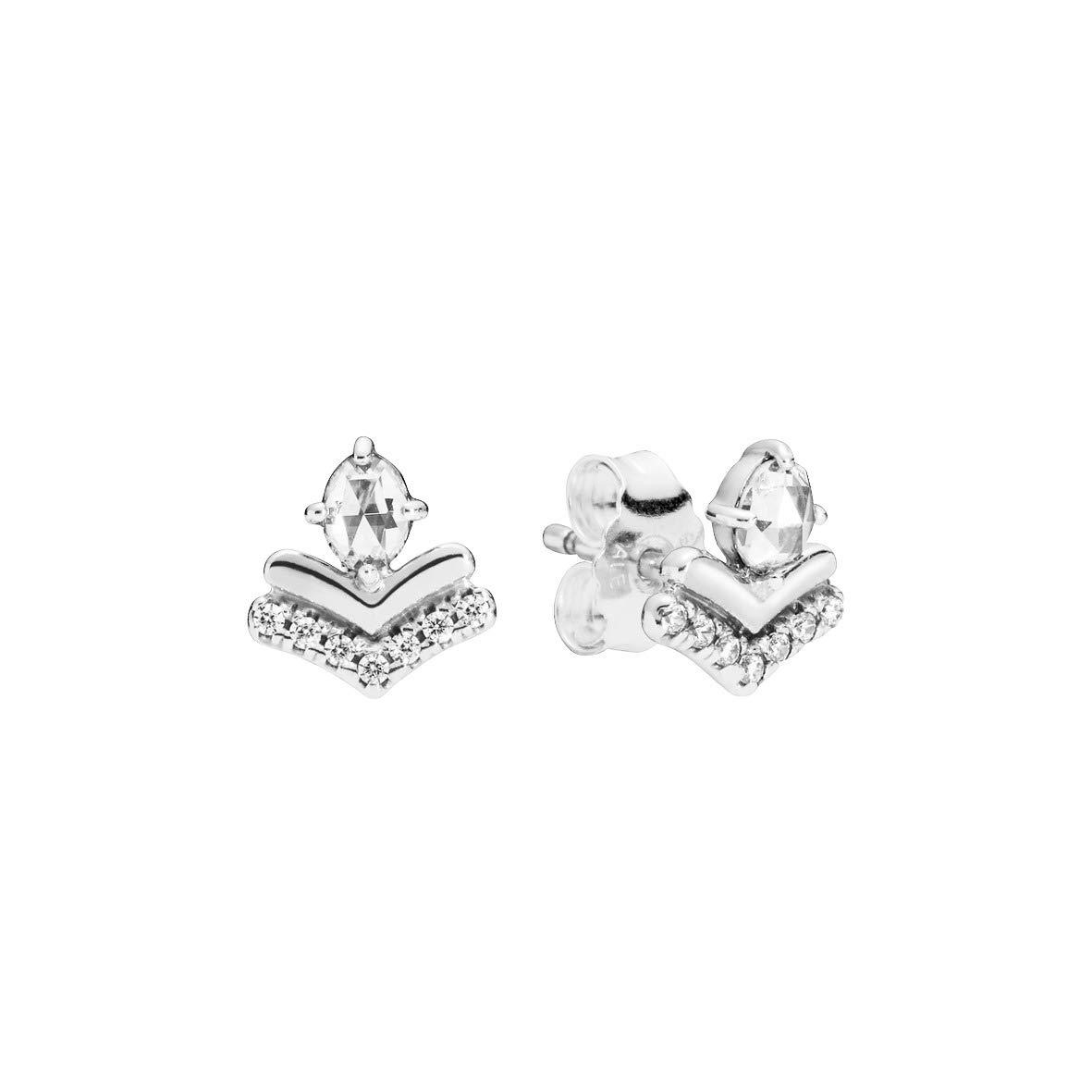 cad4654c5d980 Amazon.com: Pandora Classic Wish Silver One Size Earring 297787CZ ...