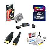 Transcend 16GB SDHC Class 10 Memory Card and Opteka LP-E8 LPE8 2000mAh Battery Package for Canon EOS Rebel T2i T3i T4i T5i 550D 600D 650D 700D Kiss X4 X5 X6 X6i X7i DSLR Digital Camera