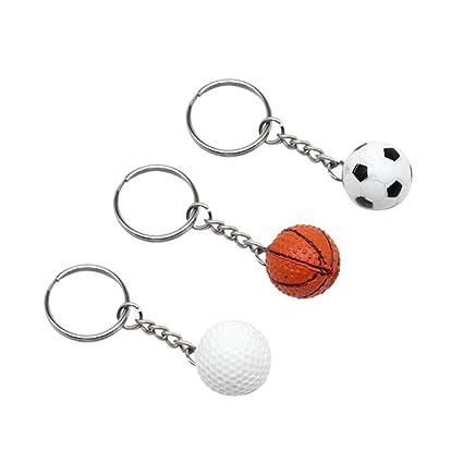 3 Unids Baloncesto llavero de golf llavero de fútbol ...