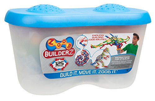 (ZOOB 0Z11125 125 Moving Mind-Building Modeling System, Assorted Colors, 125-Pieces)