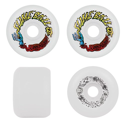 SANTA CRUZ Old School Re-Issue Skateboard Wheels 60mm SLIME BALLS VOMITS WHITE