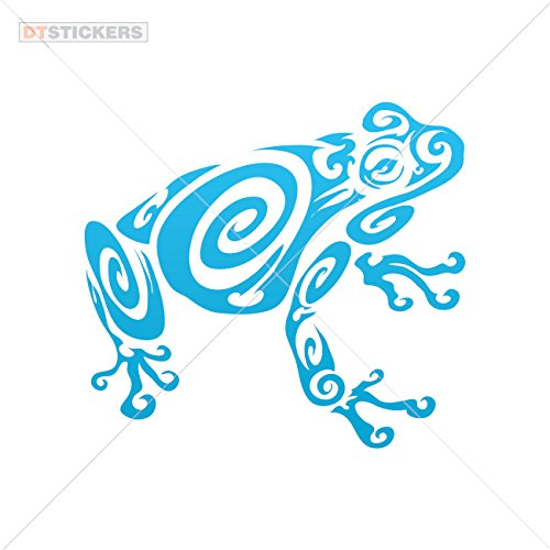 Most Popular Colors & Sizes Variations Vinyl Sticker Decals Tribal Frog Sports Bike (6 X 5,45 in.) Blue