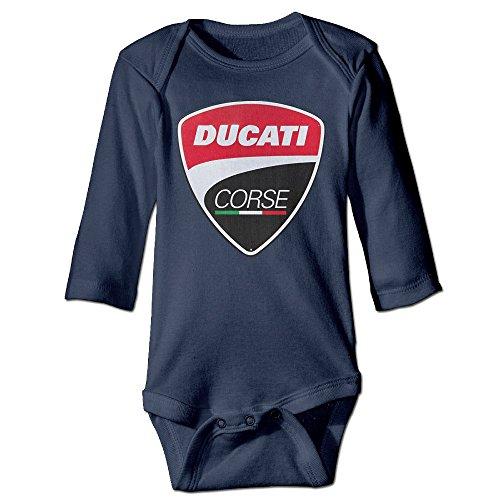 SaYuke Ducati Logo Unisex Baby Rompers Jumpsuit Babysuit Long Sleeve Climbing Clothes Navy ()
