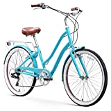 sixthreezero EVRYjourney Steel Women's Hybrid Bike with Rear Rack, 26 Inches, 7-Speed, Teal