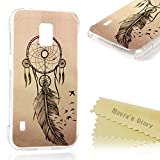 S5 Active Case, Samsung Galaxy S5 Active Case - Mavis's Diary Colorful Print Hard PC Skin Back Shell Case Fancy Premuim Ultra-thin Snug Fit Light Weight Protective Clear Cover - Feather Aeolian Bells