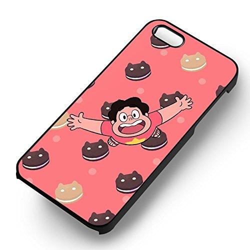 Steven Universe Cartoon pour Coque Iphone 6 et Coque Iphone 6s Case (Noir Boîtier en plastique dur) N5G1JQ