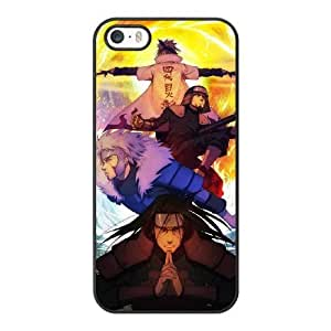 Grouden R Create and Design Phone Case, The four Hokage of The Hidden Leaf Hashirama Tobirama Sarutobi Minato Cell Phone Case for iPhone 5 5S SE Black + Tempered Glass Screen Protector (Free) LPC-8031654