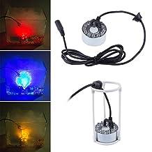 Soondar 12-LED Mist Maker Fogger Water Fountain Pond Fog Machine Atomizer Air Humidifier + Power Adapter(110v-240v)