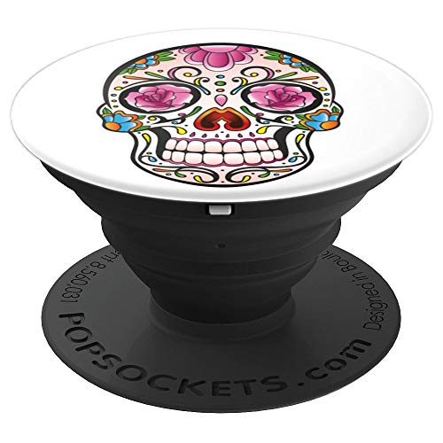 Sugar Skull Roses Day Of The Dead Halloween Tattoo Gift Idea - PopSockets Grip and Stand for Phones and -