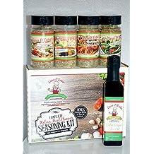 Organic Italian Seasoning Meal Prep - Authentic New York Italian Seasoning - Famous Gourmet Casa D'Erba Italian Restaurant Flavor Spices and Seasonings - Extra Virgin First Cold Press Olive Oil Included