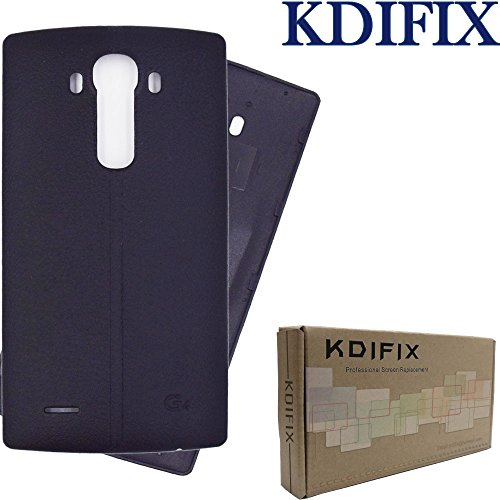 KDIFIX Back Cover Battery Door Housing Case Replacement- for LG G4, H815, H811, H810, VS986, VS999, US991, F500, LS991 (Black)