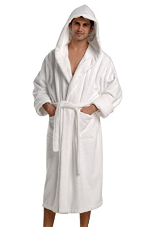 00afd037cfd THIRSTY Original Towels Hooded Luxury Turkish Cotton Bath Robe for Men and  Women at Amazon Women's Clothing store: Novelty Bathrobes