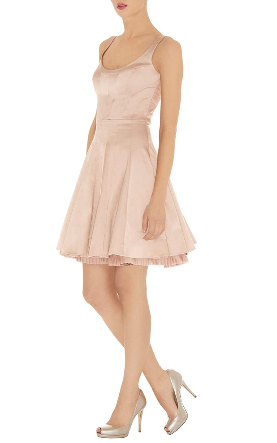 Karen Millen pale pink prom dress DQ281