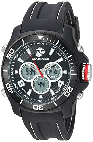 - Wrist Armor Men's 37100014 U. S. Marine Corps Black Watch with Rubber Band